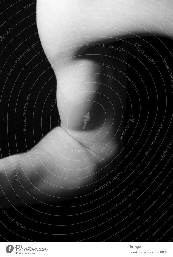 Mühe Sport Bizeps Gelenk üben Unterarm Schulter stark Schwäche maskulin Mann beweglich geschmackvoll ästhetisch Athlet Fitness-Center Trizeps Schwarzweißfoto
