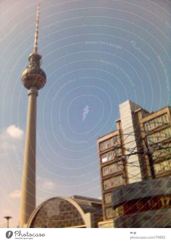 uff'n Alex Sonne Stadt Berlin Bahnhof Schönes Wetter Berliner Fernsehturm Blauer Himmel Alexanderplatz Weltzeituhr