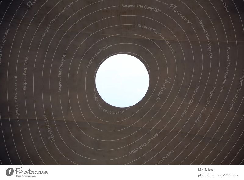 n´ loch Bauwerk Gebäude Architektur Mauer Wand Dach rund Kreis Loch oben hell einfach Mittelpunkt Punkt abstrakt Kontrast Decke Volltreffer Planet weiß Kugel