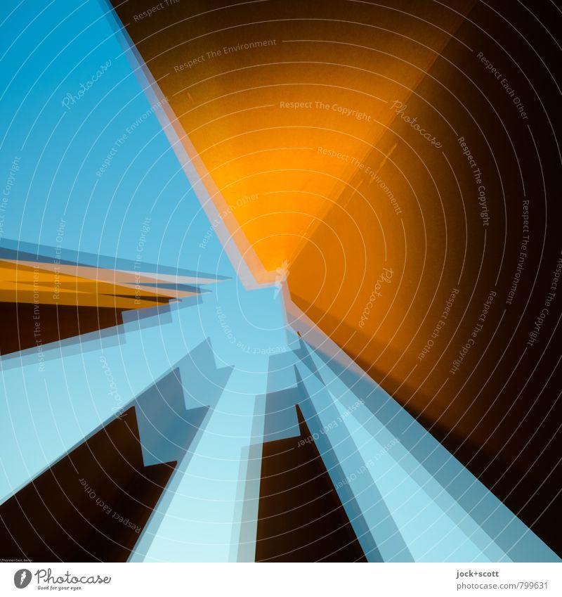 auf drei: 1-2-3 Skulptur Architektur Wolkenloser Himmel Berlin Turm Sammlung Stahl Rost Quadrat Bewegung außergewöhnlich eckig Wärme beweglich standhaft träumen