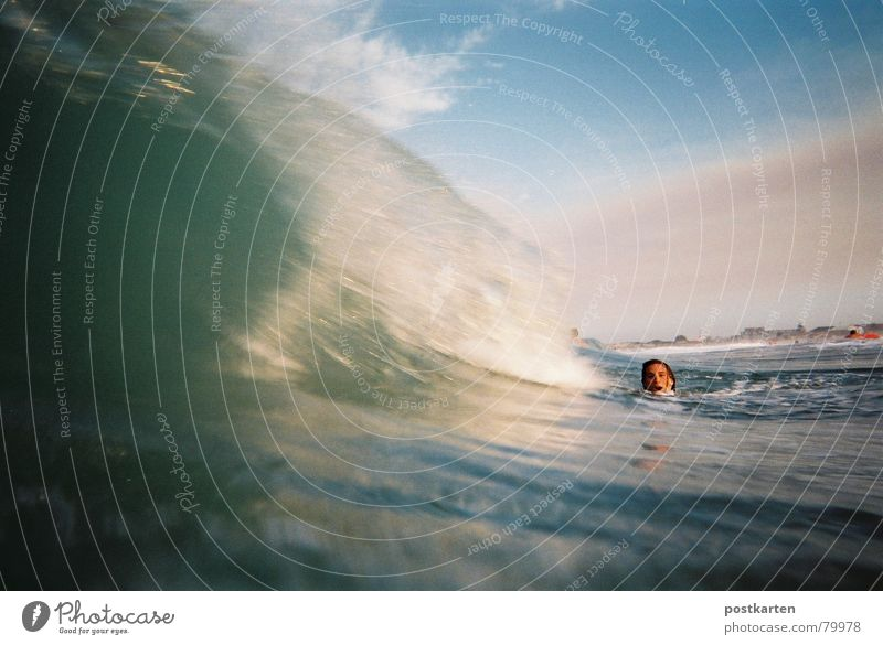Welle, warte kurz - Foto Wellen Meer Wassersport lastminute Überschwemmung wave