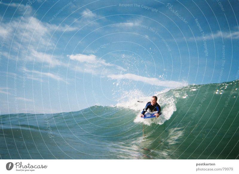 bodyboarding Wasser Meer Wellen Surfen Blauer Himmel Wassersport