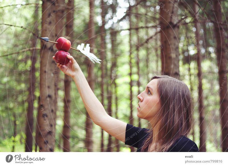 Apfelliebe Mensch Frau Kind Natur Jugendliche Sommer Junge Frau Hand 18-30 Jahre Wald Gesicht Erwachsene feminin Liebe Frühling Frucht