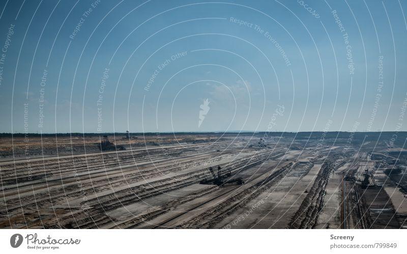 Tagebau Hambach #1 Himmel Natur Sommer Sonne Landschaft Umwelt Frühling Stein Sand Energiewirtschaft Wachstum Erde groß Klima Technik & Technologie bedrohlich