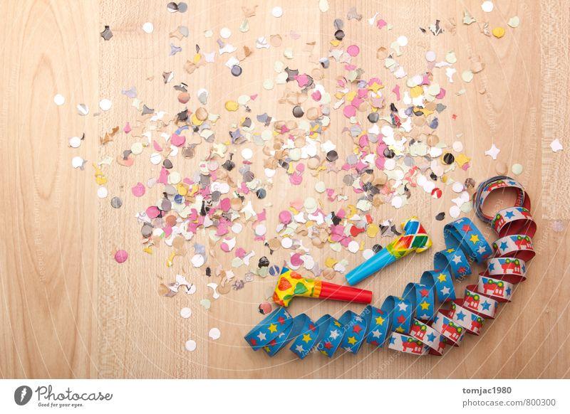 Partydekoration blau grün weiß rot Freude gelb Holz Hintergrundbild Feste & Feiern Stimmung braun orange Dekoration & Verzierung Geburtstag Papier