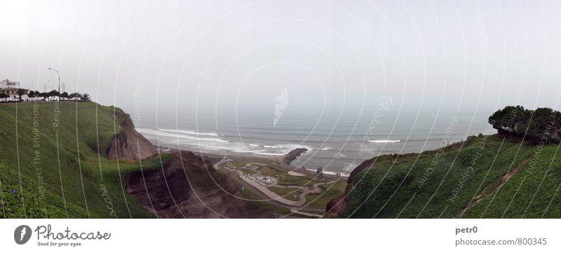 Coastline Ferien & Urlaub & Reisen Stadt Wasser Meer Einsamkeit Ferne Küste Freiheit Wetter Nebel Tourismus Abenteuer Hauptstadt Südamerika Hafenstadt Peru