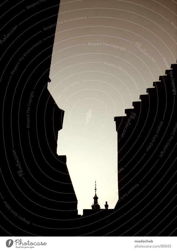 gimmi a fät hug bitsch =P Zinnen Utrecht Silhouette Götter Geistlicher schwarz Gebäude Niederlande Wahrzeichen Himmel Abend Symbole & Metaphern Europa