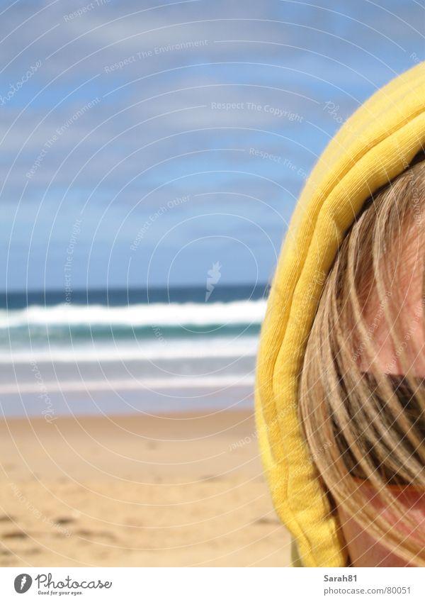 waiting for the summer blau Meer Sommer Strand Wolken Gesicht gelb Küste Sand Kopf Wellen blond Freizeit & Hobby Sonnenbrille Australien Anschnitt