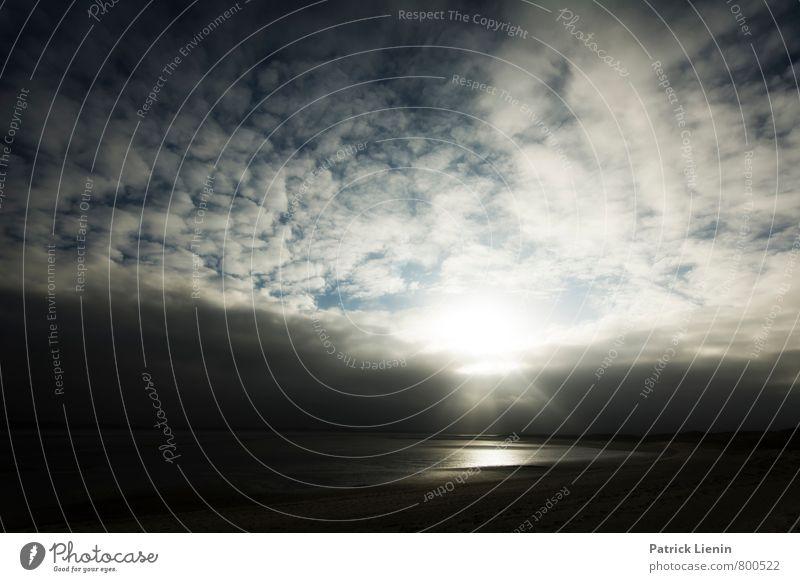 Lichtspiel Wohlgefühl Ferne Freiheit Umwelt Natur Landschaft Urelemente Himmel Wolken Klima Klimawandel Wetter schlechtes Wetter Wellen Küste Strand Bucht