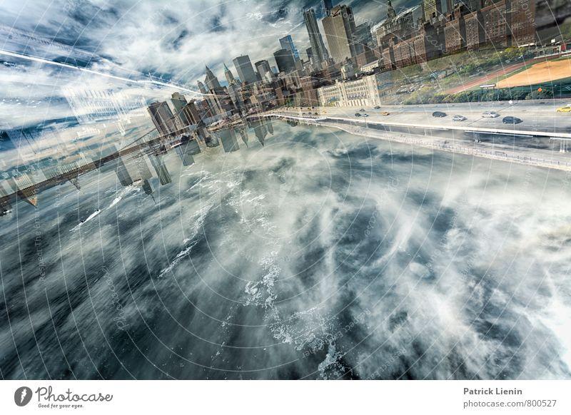 Zerrbild Himmel Stadt Wasser Meer Wolken Umwelt Bewegung Gebäude Luft Wellen Zufriedenheit modern Energie Perspektive Insel Kreativität