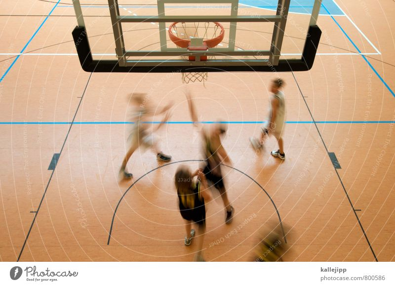 rebound Mensch Kind Bewegung Sport Spielen springen Erfolg Fitness planen Ziel Sportmannschaft Ball Spielfeld Sport-Training Teamwork Sportveranstaltung