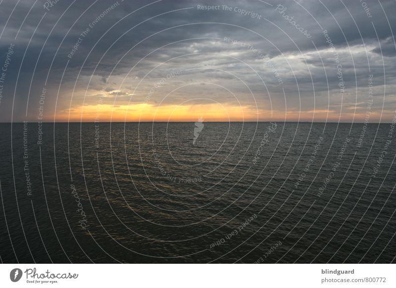 Sunset Superman Himmel Natur Ferien & Urlaub & Reisen schön weiß Wasser Sommer Sonne Meer Landschaft Wolken Ferne schwarz Umwelt gelb Frühling
