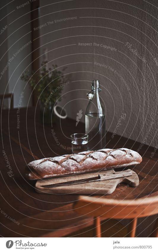 küchentisch Lebensmittel Brot Ernährung Bioprodukte Vegetarische Ernährung Getränk Erfrischungsgetränk Trinkwasser Flasche Glas Messer Schneidebrett