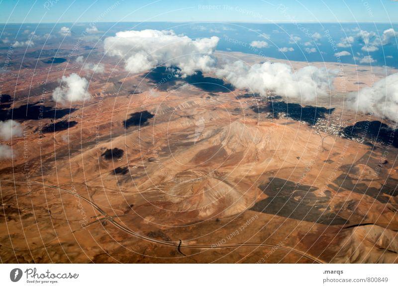 Fliegen | hoch Himmel Natur Ferien & Urlaub & Reisen schön Sommer Meer Landschaft Wolken Ferne Umwelt Wärme fliegen Horizont Tourismus Luftverkehr Perspektive