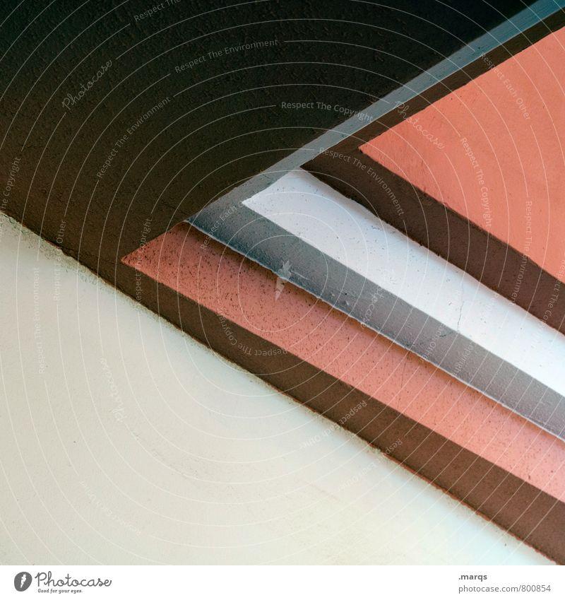 Ecke elegant Stil Design Innenarchitektur Architektur Linie eckig modern schön braun grau rot weiß Ordnung Perspektive minimalistisch Hintergrundbild Farbfoto