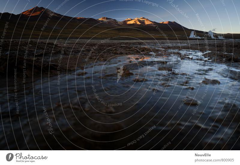 Geysers de Tatio VI Umwelt Natur Landschaft Sonne Eis Frost Wärme Dürre Stimmung Farbfoto Außenaufnahme Menschenleer Morgen Morgendämmerung Tag Licht
