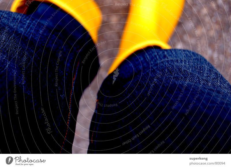 014 blau gelb Fuß Regen Schuhe Beine Hose Stiefel Schutzdach