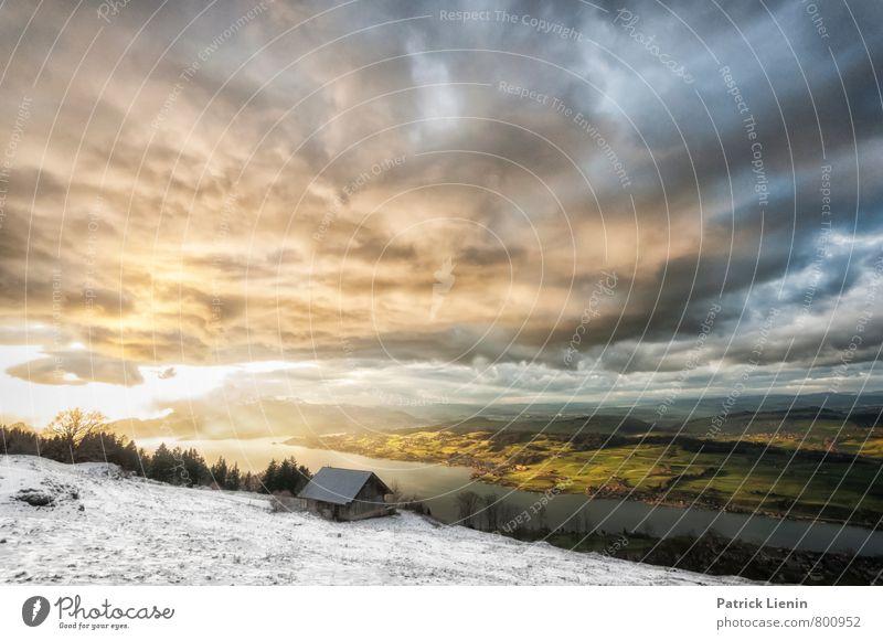 Rigiblick Wohlgefühl Tourismus Ausflug Abenteuer Ferne Freiheit Berge u. Gebirge wandern Umwelt Natur Landschaft Urelemente Himmel Wolken Gewitterwolken Sonne