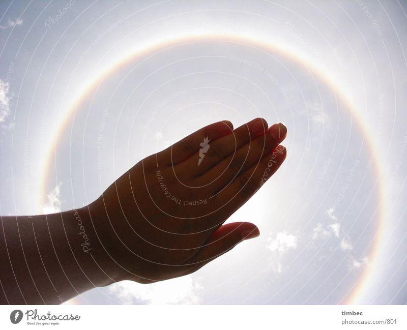 Sonnenkreis Hand Himmel Sonne Wärme Kreis Physik außergewöhnlich Wissenschaften Umwelt Südamerika Peru Himmelskörper & Weltall Machu Pichu