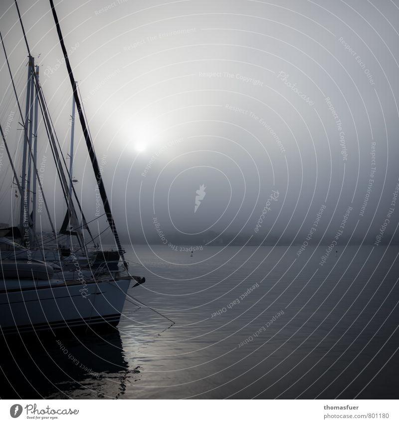 graubunt Himmel Wasser Meer Einsamkeit ruhig Wolken Strand dunkel Küste Stimmung Horizont Luft Nebel warten Insel