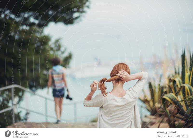 Urlaub Mensch Ferien & Urlaub & Reisen Jugendliche Sommer Meer Junge Frau 18-30 Jahre Ferne Erwachsene Berge u. Gebirge Leben Haare & Frisuren Freiheit