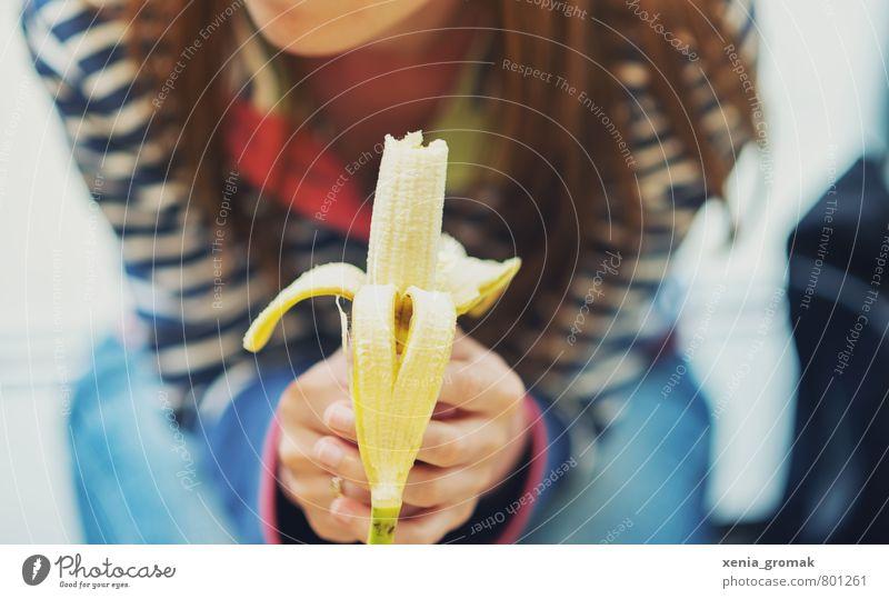 Banane Mensch Ferien & Urlaub & Reisen Erholung Ferne gelb Leben Essen Gesundheit Lebensmittel Freizeit & Hobby Lifestyle Tourismus Ausflug genießen Ernährung