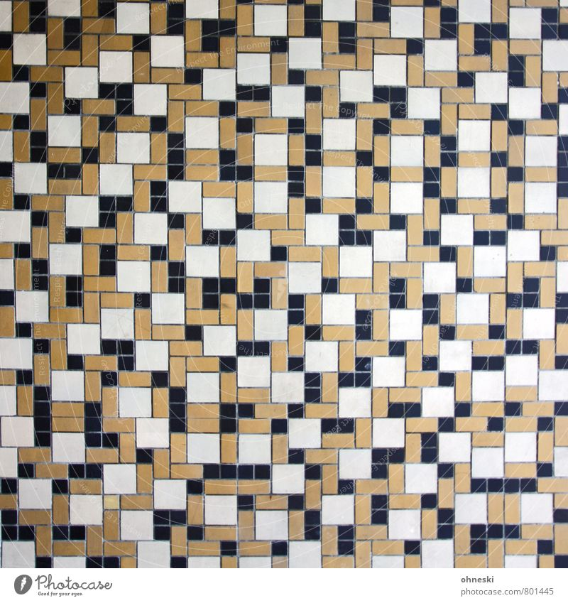 Taktik Haus Wand Mauer Linie braun Fassade wild Netzwerk Fliesen u. Kacheln Mosaik
