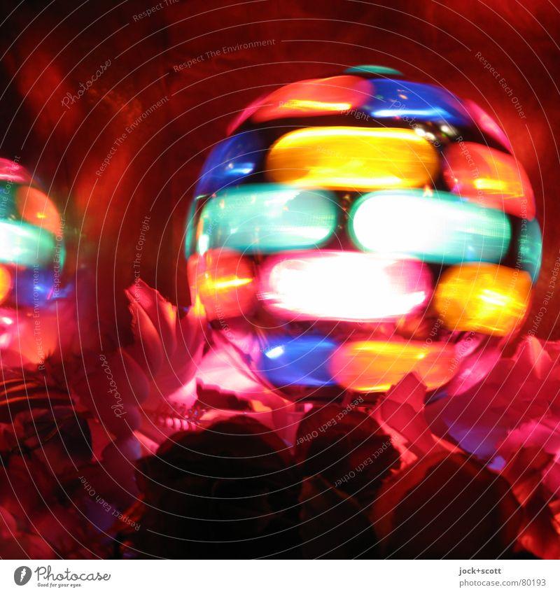 Elektrischer Farbball Nachtleben Bar Cocktailbar Gastronomie Subkultur Dekoration & Verzierung Kugel drehen Fröhlichkeit Kitsch Freude Energie Geschwindigkeit