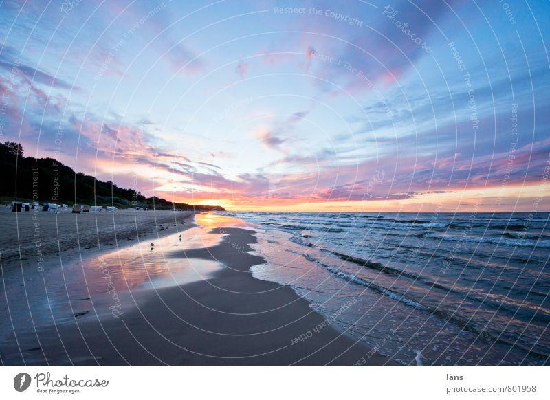 heimweh... Ostsee Strand Sand Sonnenuntergang Meer Himmel Wolken