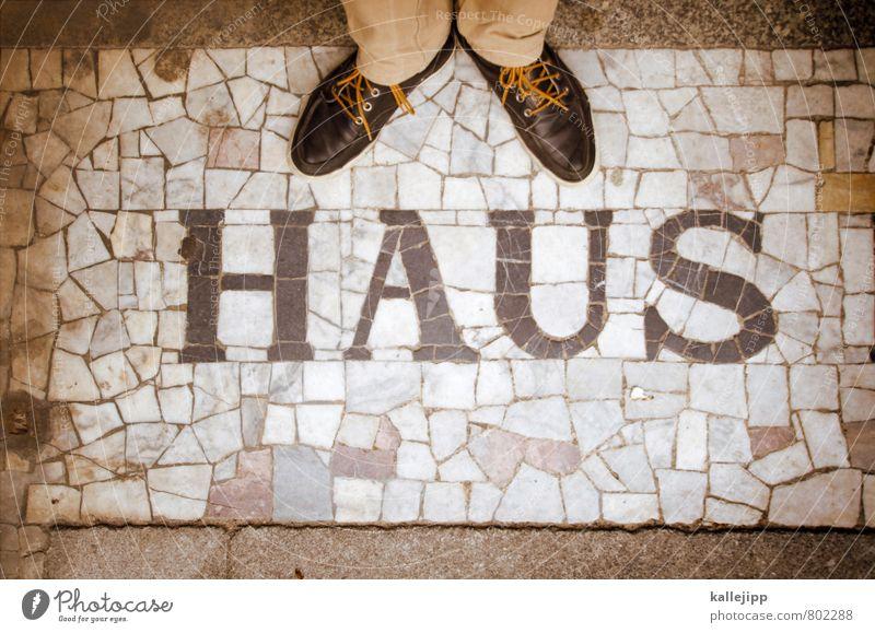 auf diese steine Mensch Haus Innenarchitektur Stil Gebäude Fuß Wohnung maskulin Häusliches Leben elegant stehen Schriftzeichen Umzug (Wohnungswechsel) Reichtum