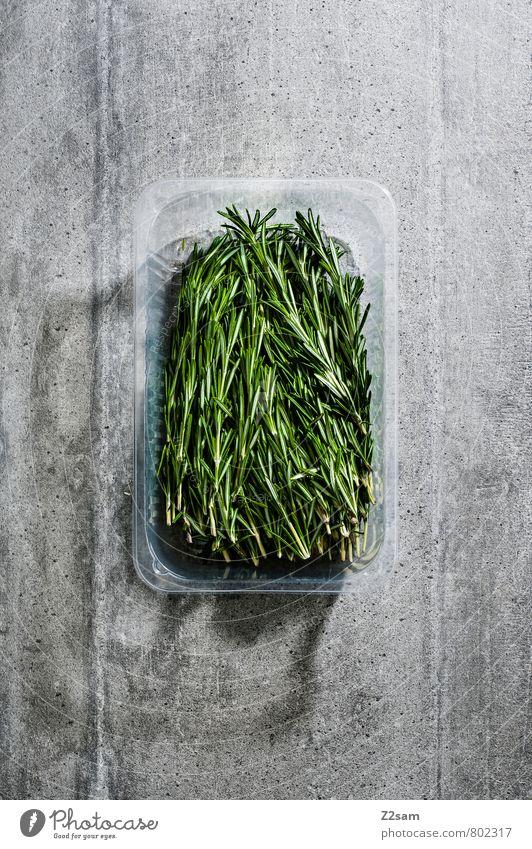 rosmarin Kräuter & Gewürze Bioprodukte Italienische Küche ästhetisch eckig einfach frisch Gesundheit kalt modern natürlich Sauberkeit grau grün Design