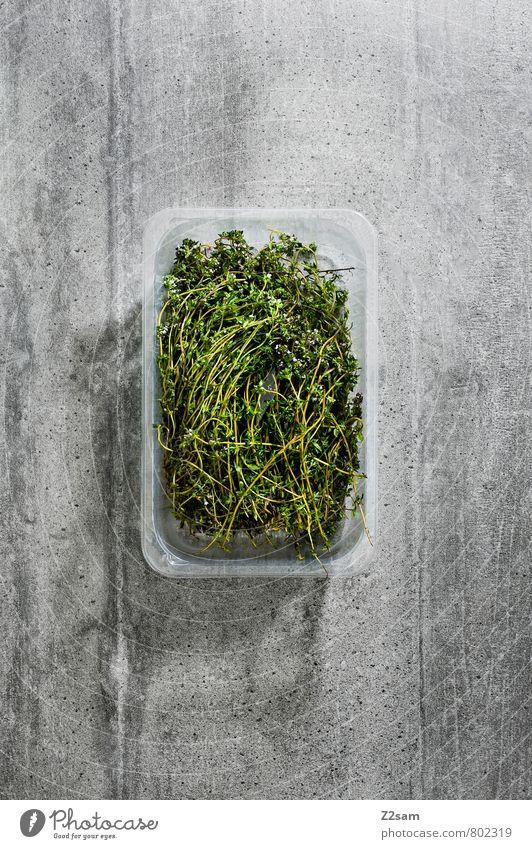 Gsund grün Farbe kalt natürlich Gesundheit grau Lebensmittel Stadt Essen Design Ordnung elegant modern ästhetisch Ernährung Beton einfach