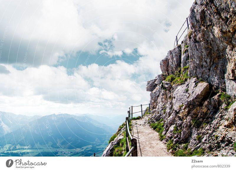 Endstation Himmel Natur Ferien & Urlaub & Reisen Sommer Einsamkeit ruhig Landschaft Wolken Ferne Berge u. Gebirge Wege & Pfade natürlich Freiheit Felsen Idylle