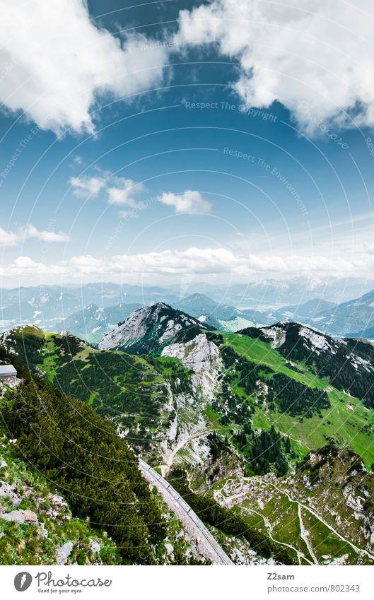 Wendelstoar wandern Umwelt Natur Landschaft Himmel Wolken Sommer Schönes Wetter Wiese Wald Felsen Alpen Berge u. Gebirge Gipfel ästhetisch gigantisch