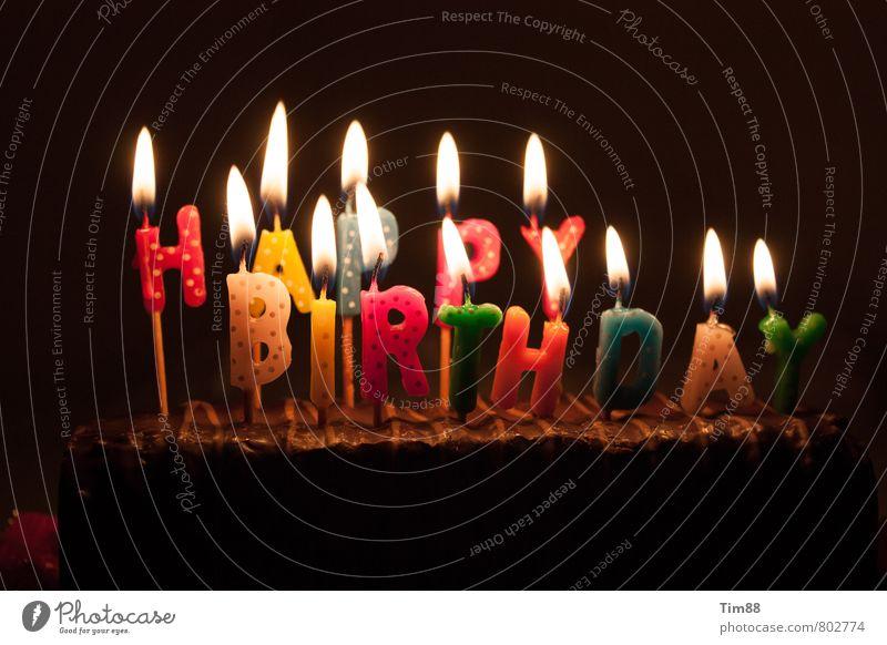 Happy Birthday Glück Feste & Feiern Stimmung Party Zufriedenheit Dekoration & Verzierung Geburtstag Schriftzeichen Fröhlichkeit Lebensfreude Kerze Wunsch