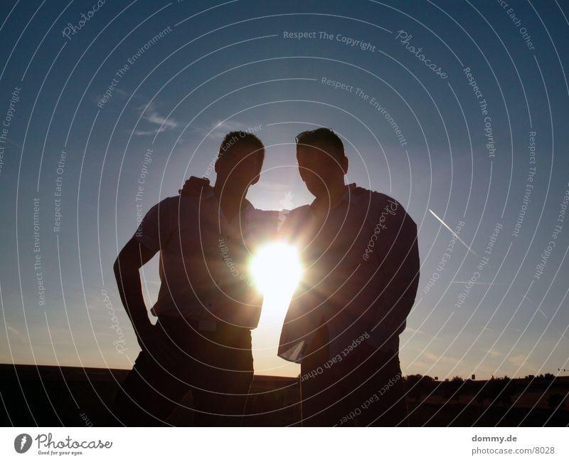 Lensflake Mann Feld Körperhaltung Langeweile Sommer Silhouette zdenek thomas laufen Freude Sonne