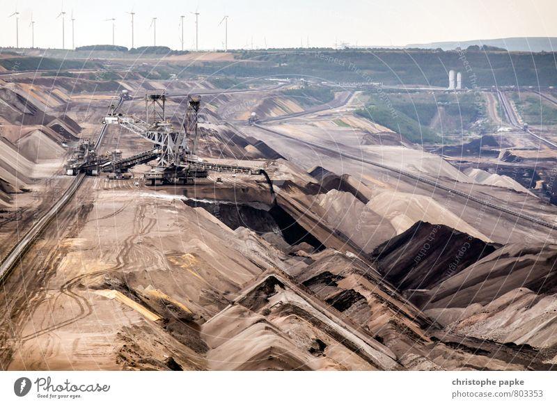 Tagebau bei Jüchen Arbeit & Erwerbstätigkeit Wirtschaft Industrie Energiewirtschaft Maschine Energiekrise Umwelt Klimawandel Umweltverschmutzung Umweltschutz