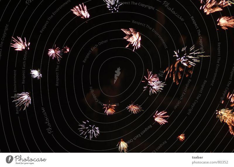 Feuerwerk Licht Silvester u. Neujahr schwarz Knall 2007 2006 Pyrotechnik Farbe Himmel Brand Feste & Feiern hell Funken