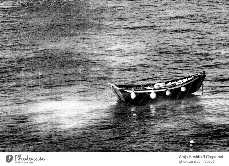 Wie ein Blatt im Wind See Meer Unendlichkeit Fischer Fischerboot Einsamkeit Wasserfahrzeug Wellen Ferne Schifffahrt Wasserwirbel Bach Wasserstraße Elektrizität
