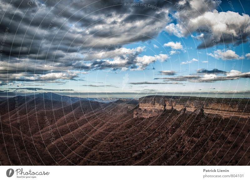 Blue Mountains Himmel Natur Ferien & Urlaub & Reisen Pflanze Sommer Erholung Landschaft ruhig Wolken Ferne Wald Umwelt Berge u. Gebirge Freiheit Zufriedenheit