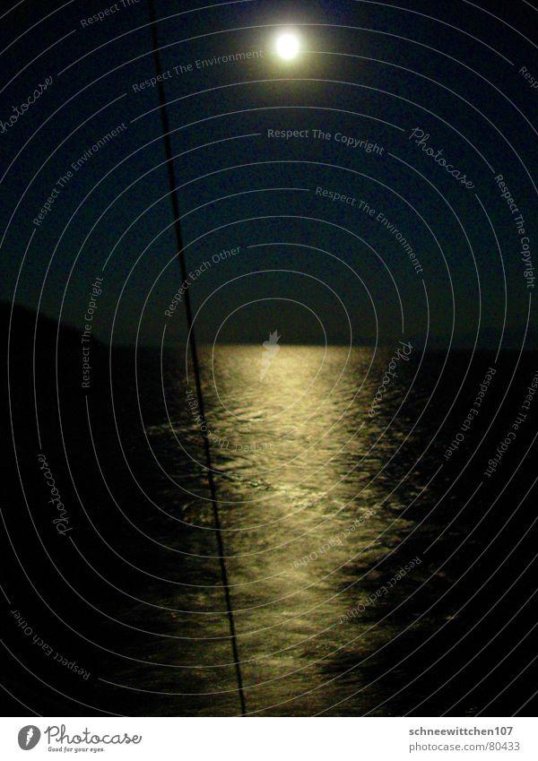 türkei bei nacht Türkei See Meer Nacht Segeln Ferien & Urlaub & Reisen Mondschein ruhig Reflexion & Spiegelung Freizeit & Hobby reflektion Mittelmeer