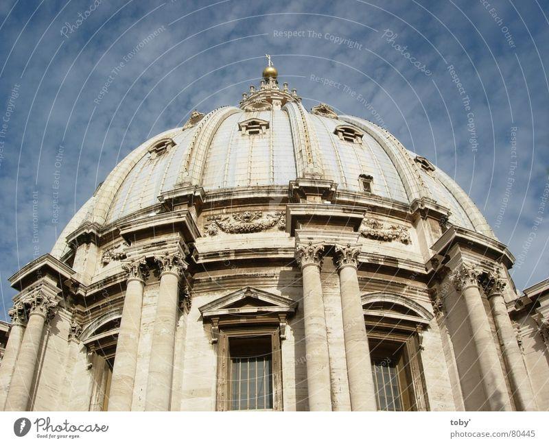 San Pietro in Vaticano Himmel Wolken Religion & Glaube Italien Rom Gott Götter Kuppeldach Gotteshäuser Vatikan Petersdom