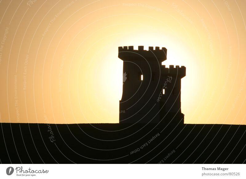 Lichtblick III Sonne Zeit Turm Vergänglichkeit Abenddämmerung Momentaufnahme