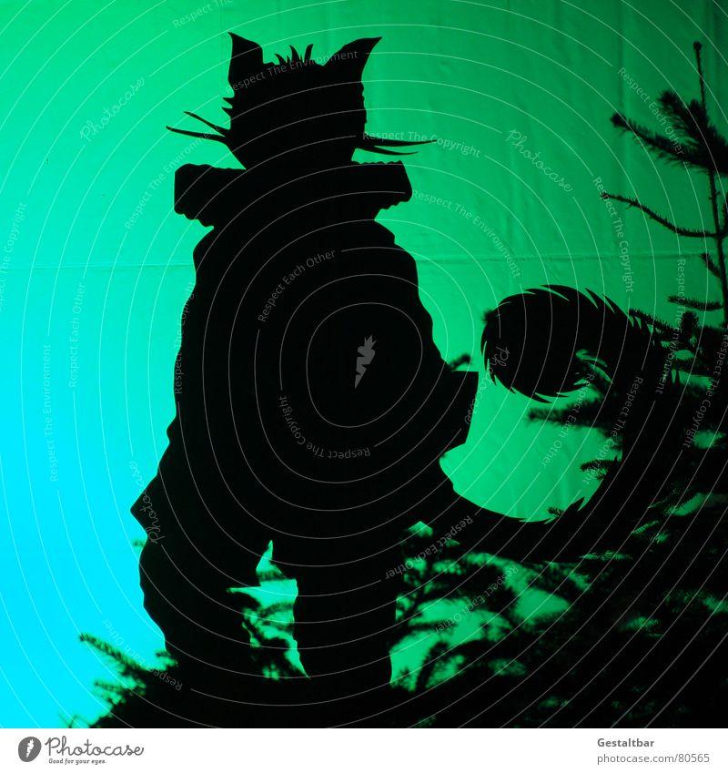 Gestiefelter Kater Märchen Silhouette Tier Stiefel Schwanz Fell fantastisch Märchenlandschaft gestaltbar Kunst Kultur sagen- und märchengut fabel Hauskatze
