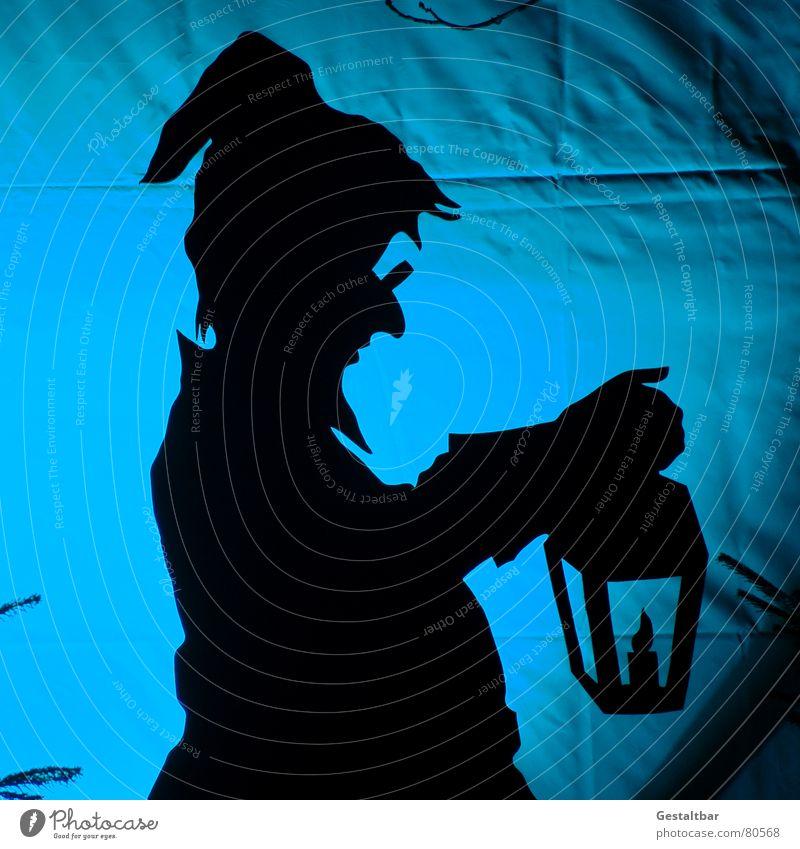 Einer von 7 Zwergen Wicht Märchen Silhouette Lampe Nikolausmütze Brille fantastisch Märchenlandschaft gestaltbar Kunst Kultur Schatten sagen- und märchengut