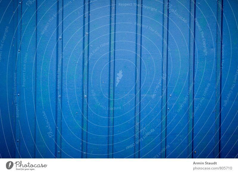Alte blaue Bretterwand alt Stadt weiß Wand Mauer Holz Hintergrundbild Linie Fassade dreckig Design authentisch einfach Riss Holzbrett trashig