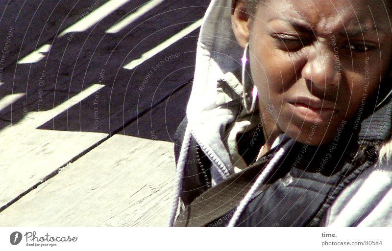 Little Black Diva mehrfarbig Sonnenlicht schön Kind Mädchen Junge Junge Frau Jugendliche Erwachsene Auge Nase Lippen Coolness kalt schwarz Stimmung Gelassenheit
