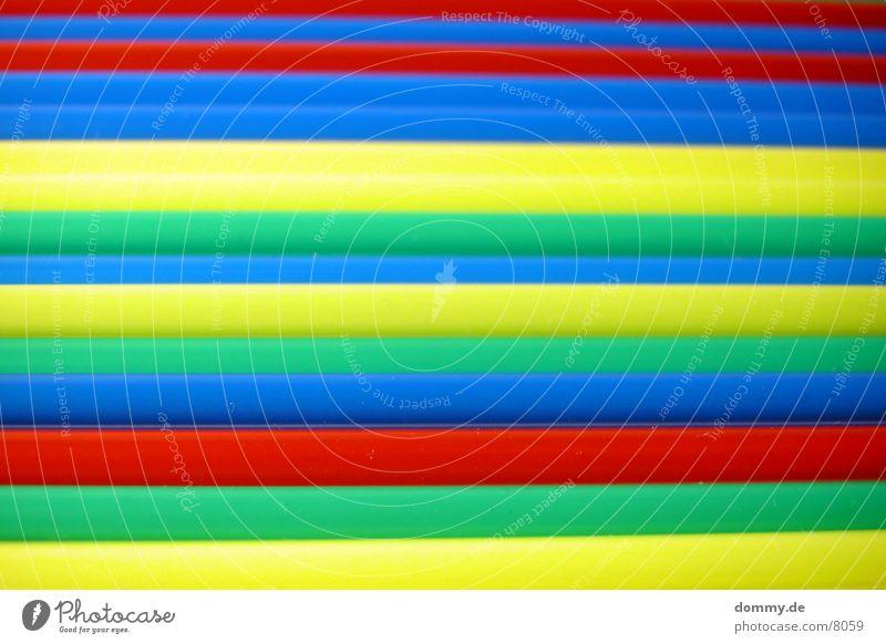 Reggihalme grün blau rot gelb Farbe Halm