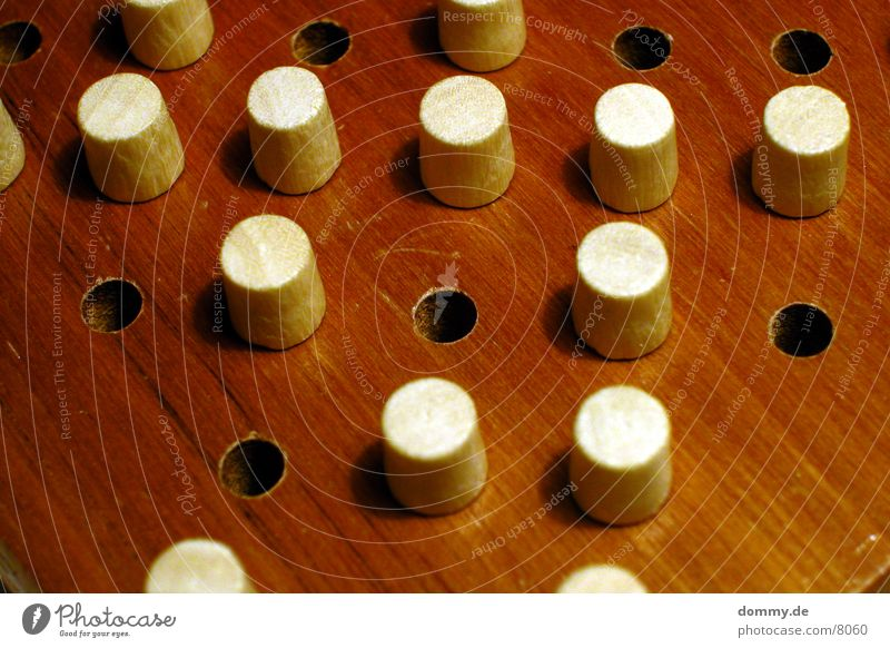 Solitär einzeln Spielen Holz Makroaufnahme Nahaufnahme 1