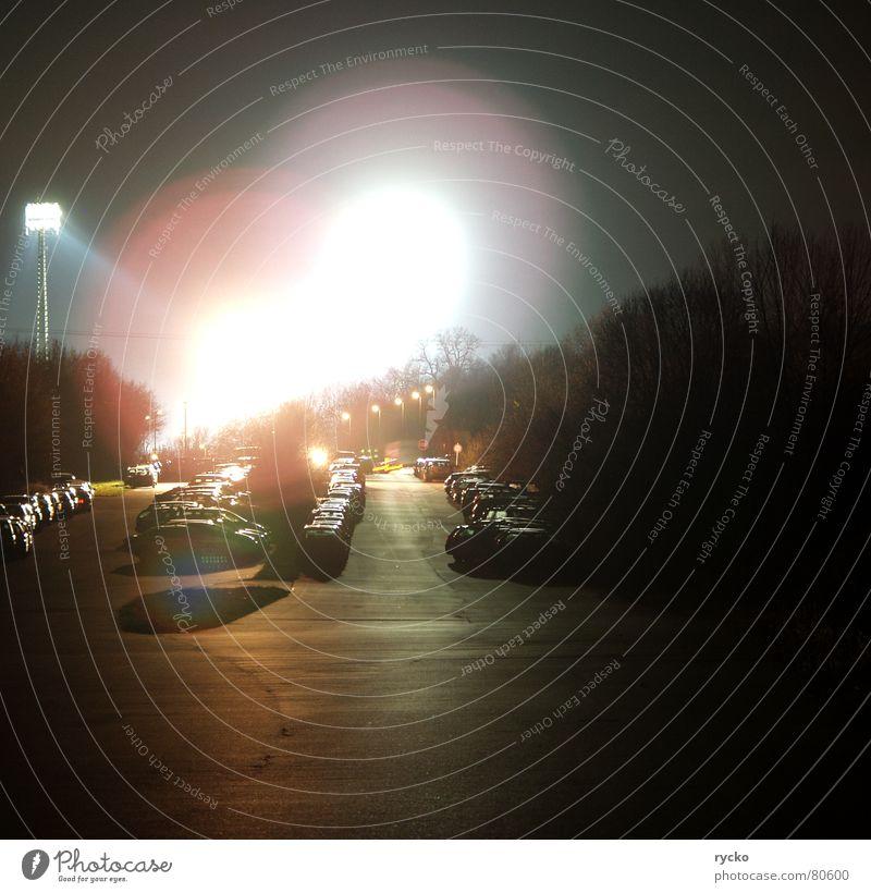 Die machen wir fertig.... schwarz dunkel Straße Spielen Wege & Pfade PKW Lampe Beleuchtung Wildtier Asphalt eng Fahrzeug Parkplatz Scheinwerfer Dieb